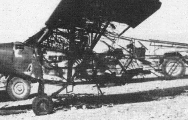מטוס הפייפר החרוך של הטייס משה בוקעי