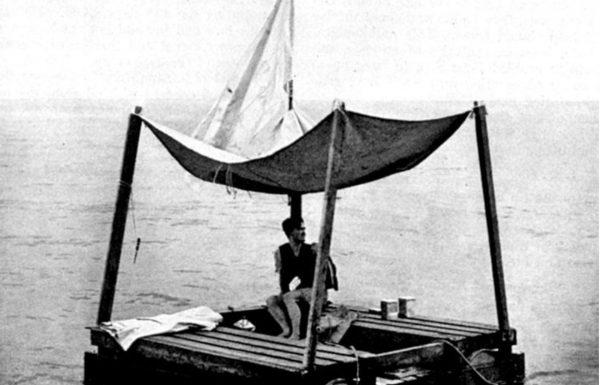 לאחר 133 יום על רפסודת עץ באוקיינוס האטלנטי נמצא פון לים, ימאי שניצל מהתקפת צוללת גרמנית על ספינה בריטית